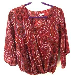 South Moon Under Red paisley blouse